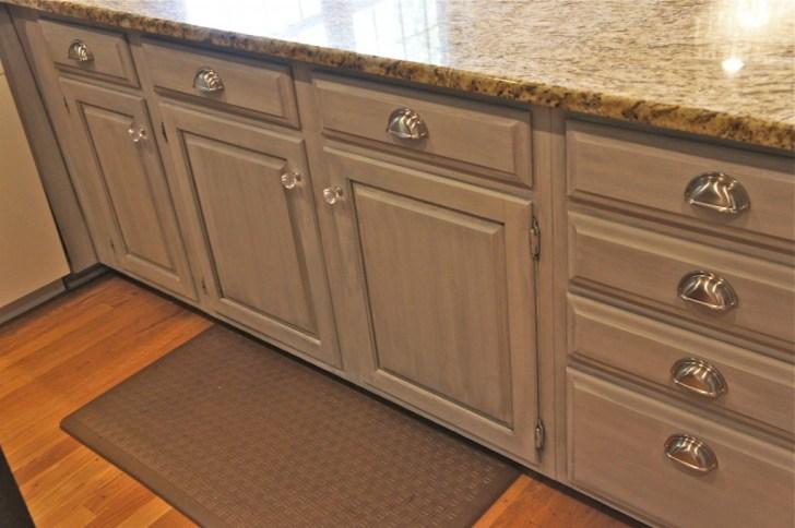 Soft Grey Glazed Cabinet Finish Bella Tucker Decorative Finishes