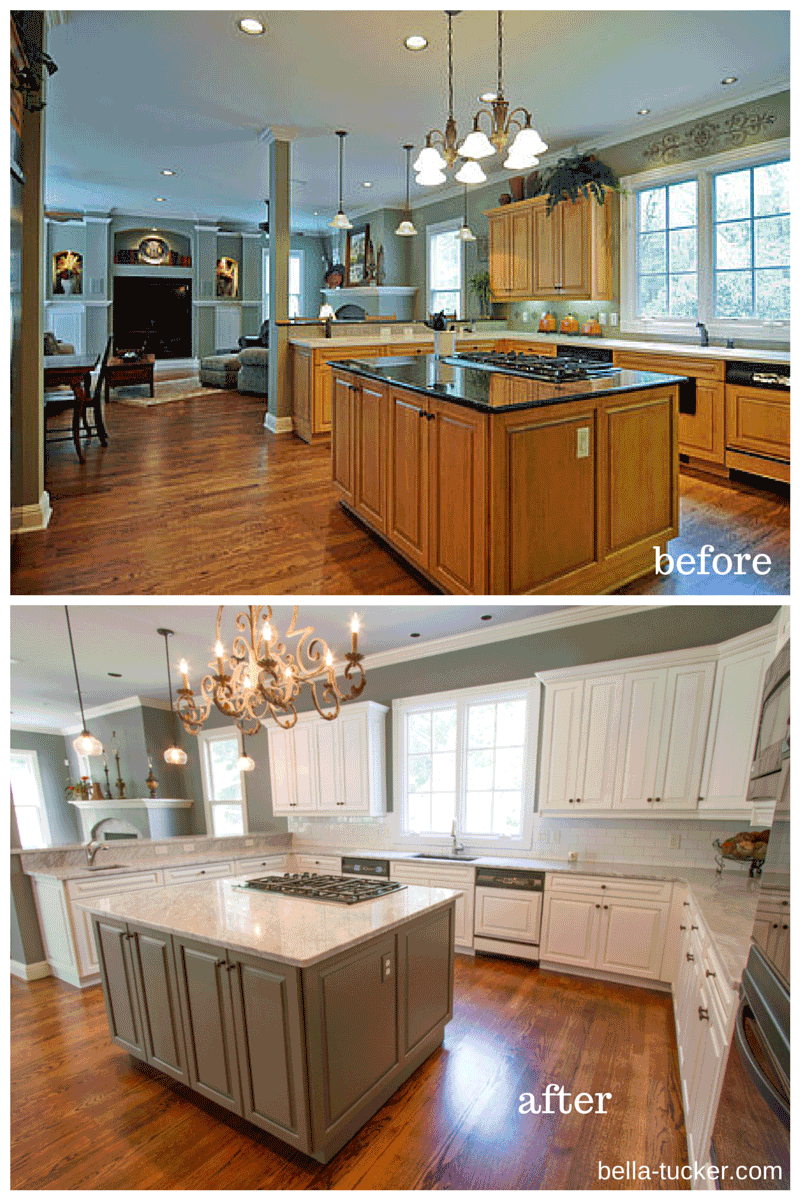 Best Kitchen Gallery: Painted Cabi S Nashville Tn Before And After Photos of Painting Kitchen Cabinets White Before And After on cal-ite.com