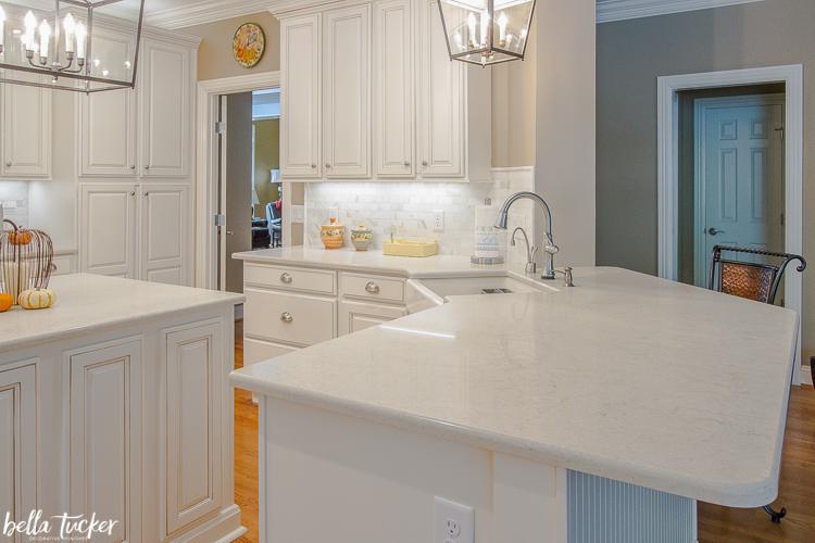 two tier kitchen island update bella