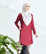 Lily Long Top Maroon