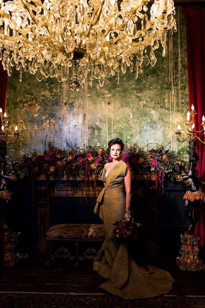 A regal bride enjoys her glamorous statement wedding