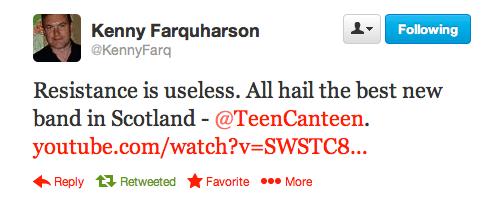 Kenny Farquharson on TeenCanteen