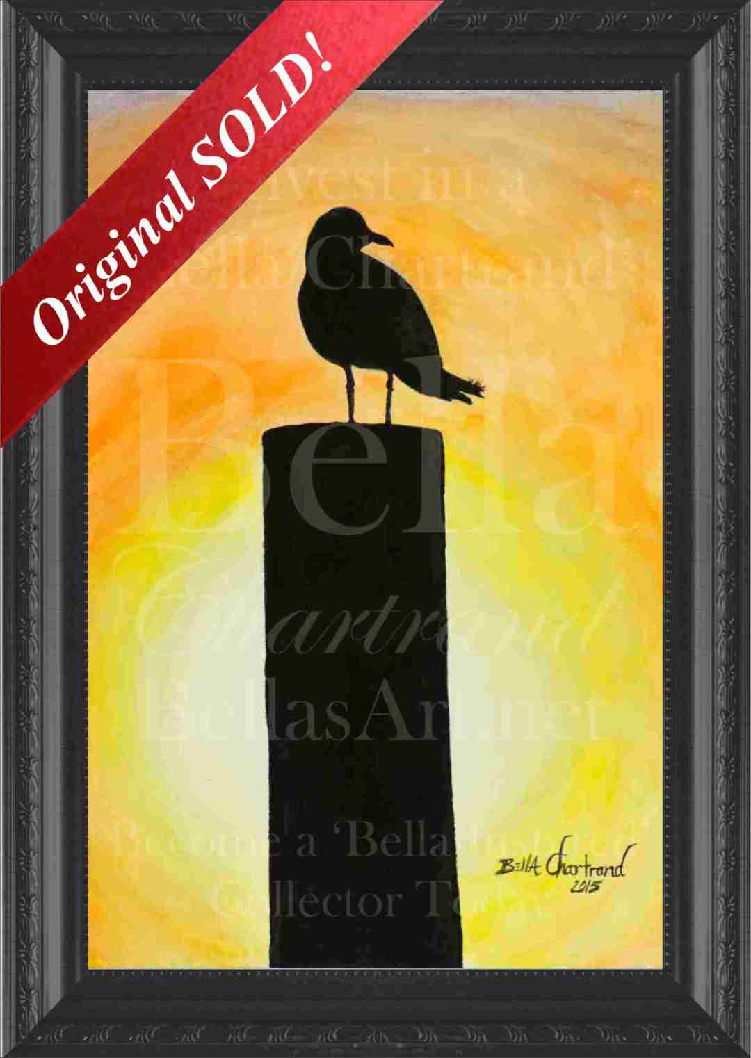 """Sunset Perch"" from Bella Inspired Seascape Collection by Bella Chartrand from Utopia USA"