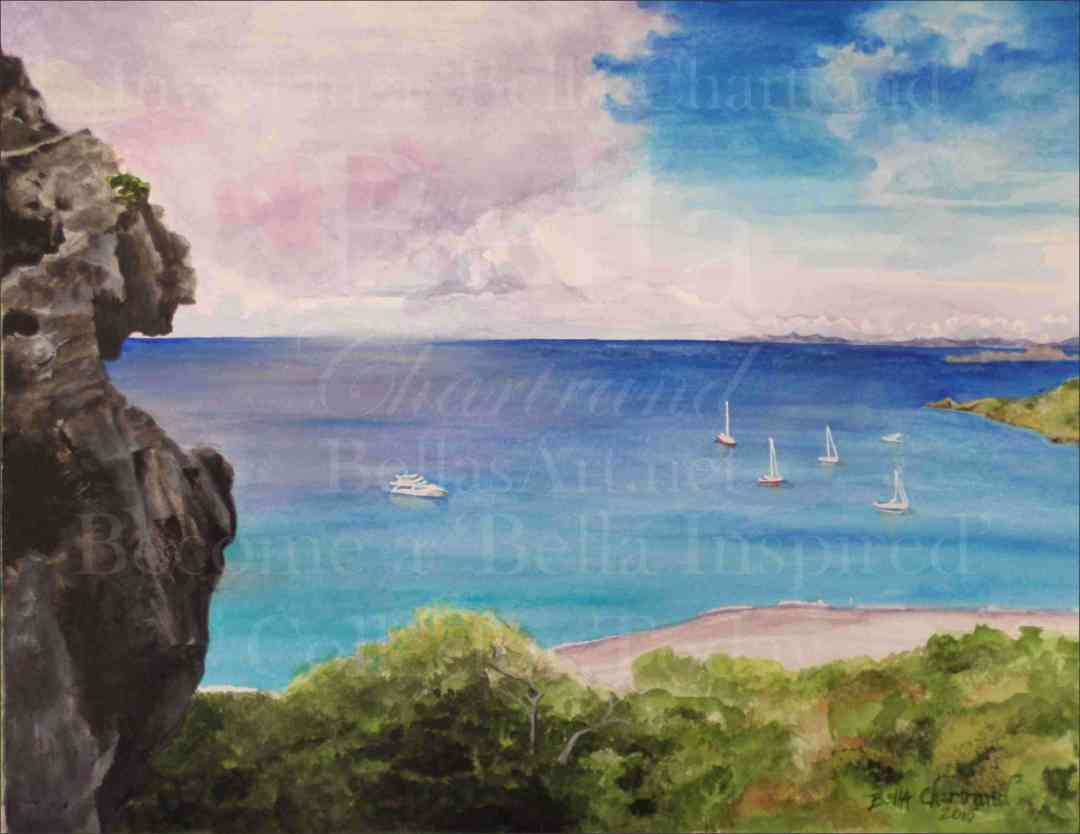 Anse à Colombier at St. Barts from Bella Inspired Seascape Collection by Bella Chartrand from Utopia USA