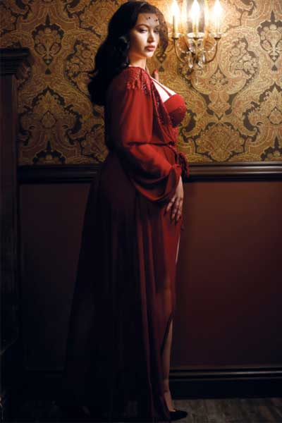 1920's harlow dressing gown, plus size from bella curves lingerie