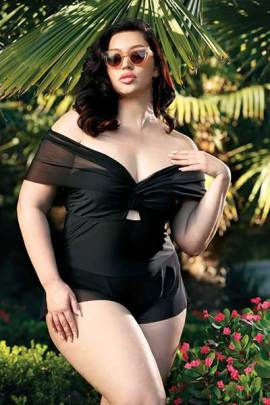 Riviera plus size swimwear one-piece - bella curves lingerie