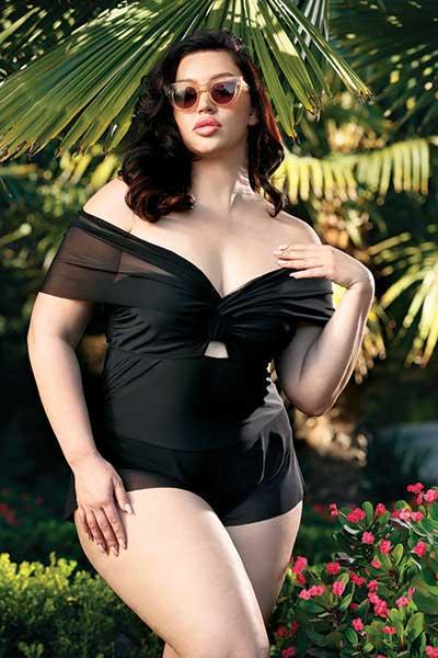 Riviera plus size swimwear one-piece - bella curves lingerie