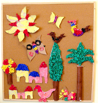 Crumpled Tissue Paper Mural Things To Make And Do
