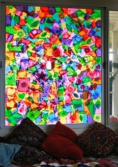 Tissue Paper Window Collage Things To Make And Do