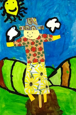 Scarecrow Art Lesson Things To Make And Do Crafts And