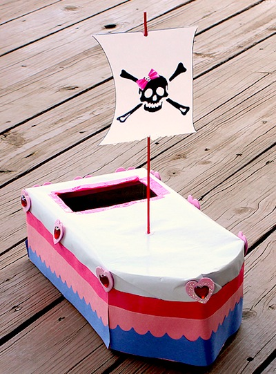 Pirate Ship Valentine Mailbox Things To Make And Do