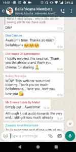 testimonials from Bellafricana x Chioa Webinar