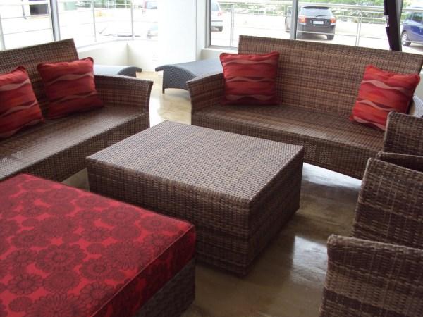 Single weaved Kariba 2 seater sofa in coffee cream.