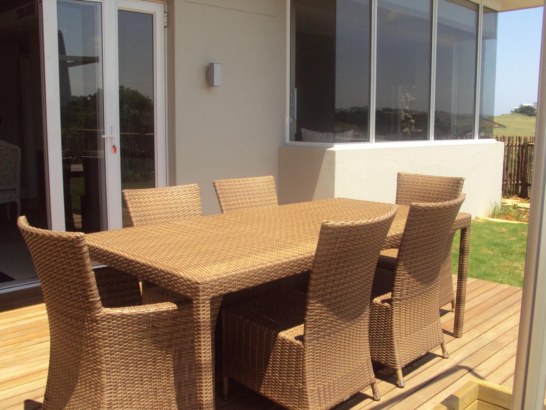 Fully weaved Malindi six seater dinning table