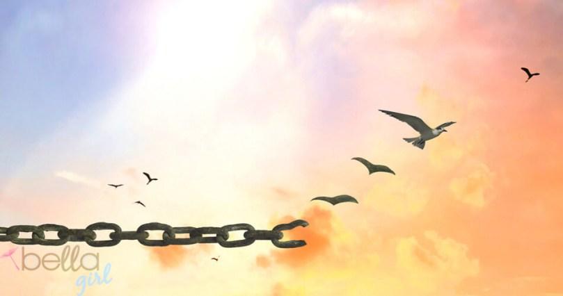 elszakadt lánc, repülő madarak
