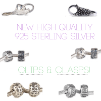 New High Quality 925 Sterling Silver Bead Clips & Clasps!