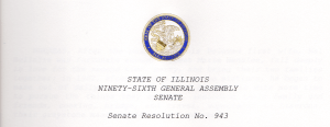 The Illinois Senate adopted a resolution marking Mal's passing.