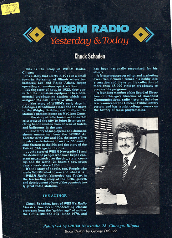 WBBM Yesterday and Today, back cover