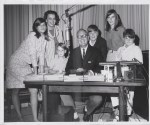 Mal, Jo and kids at Arthur Godfrey's desk - WCBS New York, 1966.