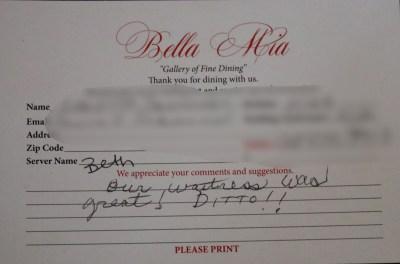 Bella Mia Fine Dining_4009