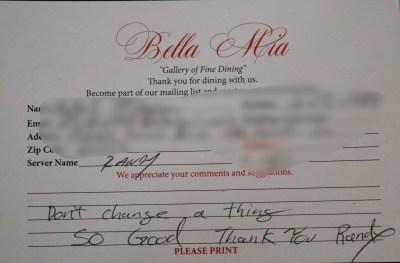 Bella Mia Fine Dining_4015