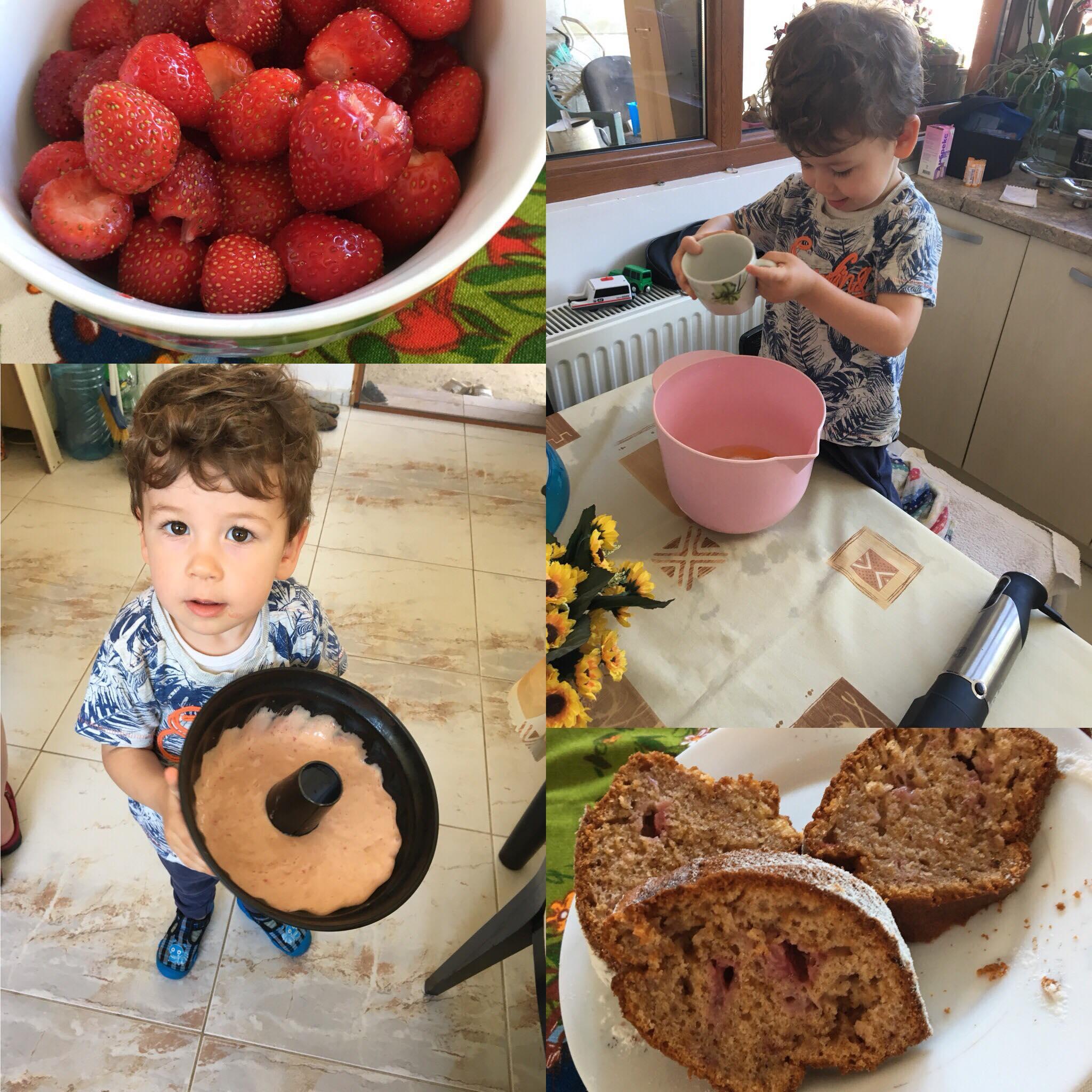 Лесен и вкусен кекс с ягоди