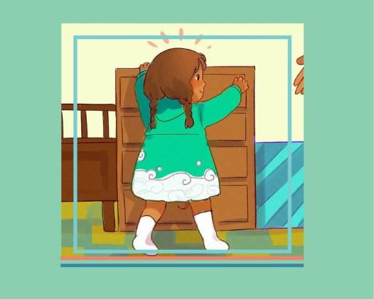 Прохождане на бебето - организация на мебелите - bellamiestore