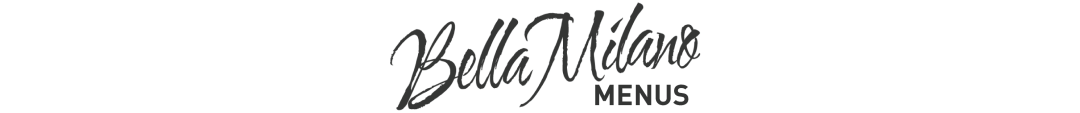 Bella Milano Menu Title