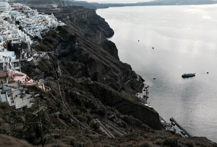 Santorini Cliff