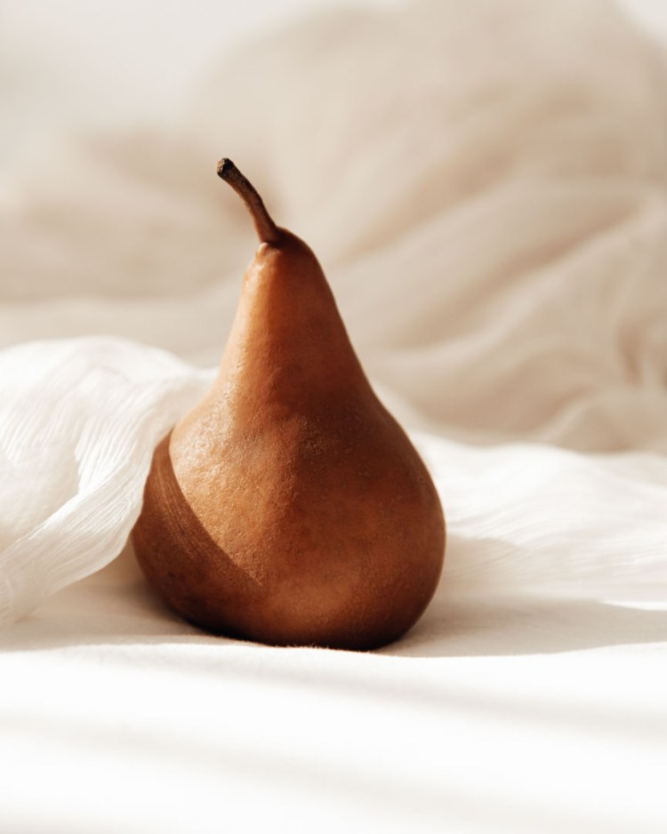 pear elegance minimal soft still life