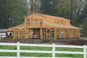 Bellamy Brook Stables under construction