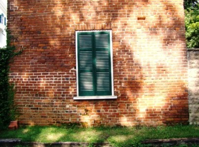 Window to the privy on the east wall of the slave quarters