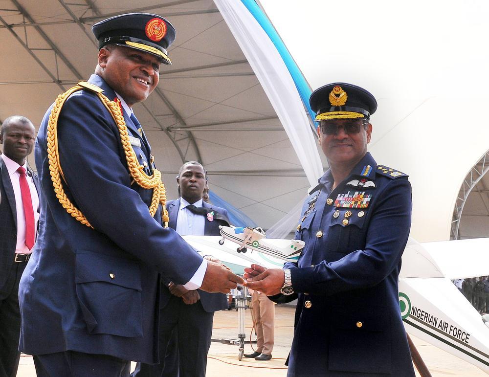 PIC.26. PAKISTAN PRESENTS SUPER MUSHSHAK AIRCRAFT TO NIGERIAN AIRFORCE IN KADUNA - Terrorism: Pakistan assures NAF of continued support