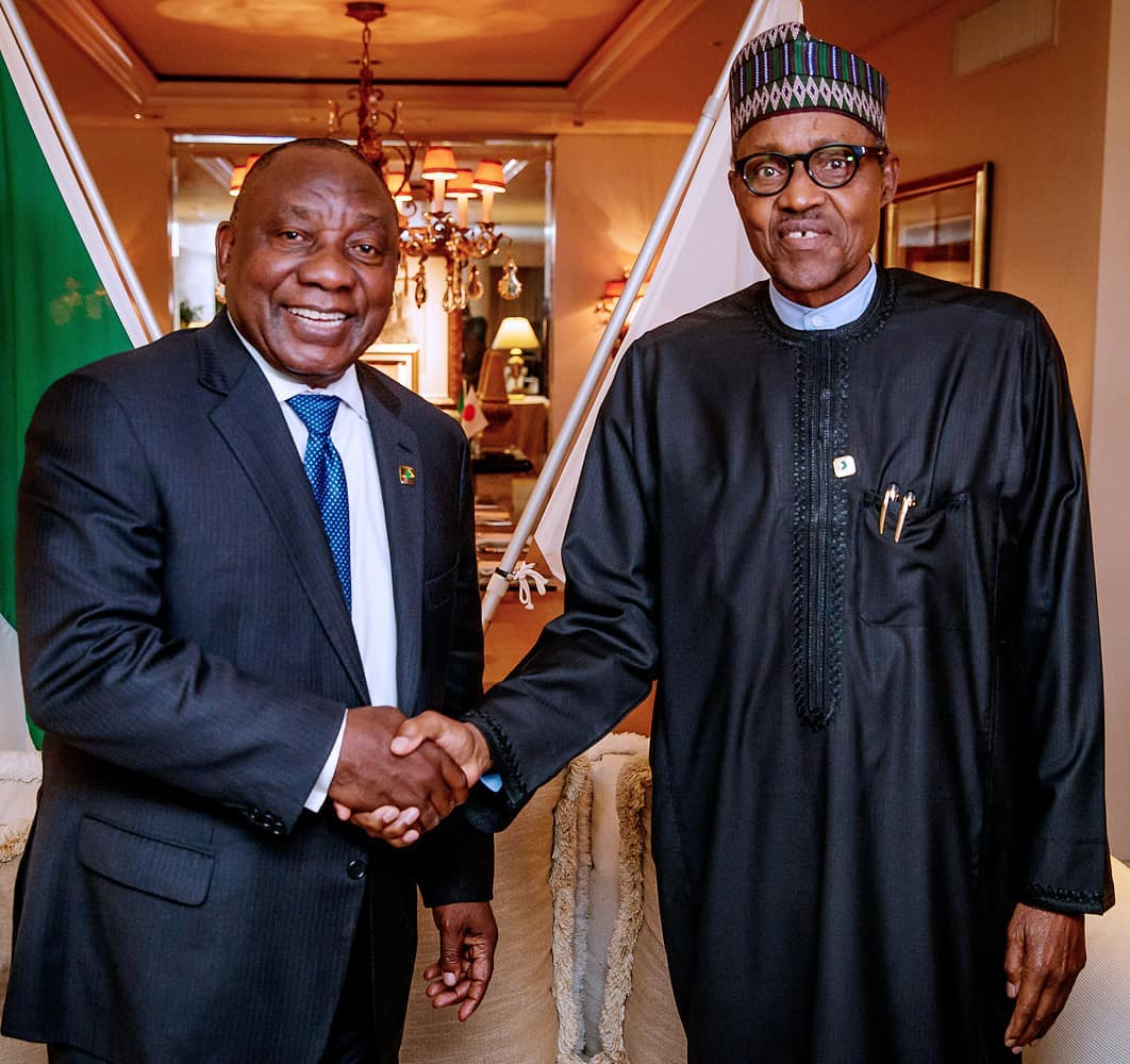 Buhari Cyril Ramaphosa - State Visit: Buhari, Ramaphosa to discuss safety of Nigerians still living in South Africa