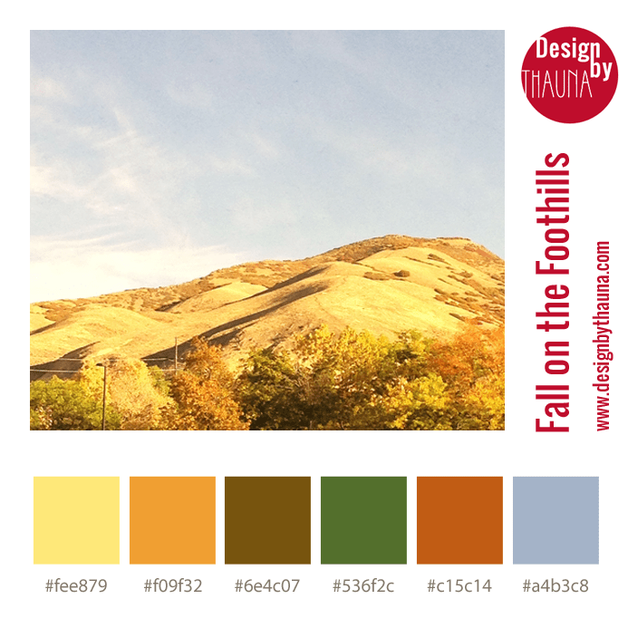 Fall on the Foothillls - Color Palette