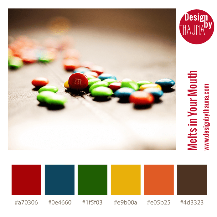 Color Palette - M&Ms - Melts in Your Mouth