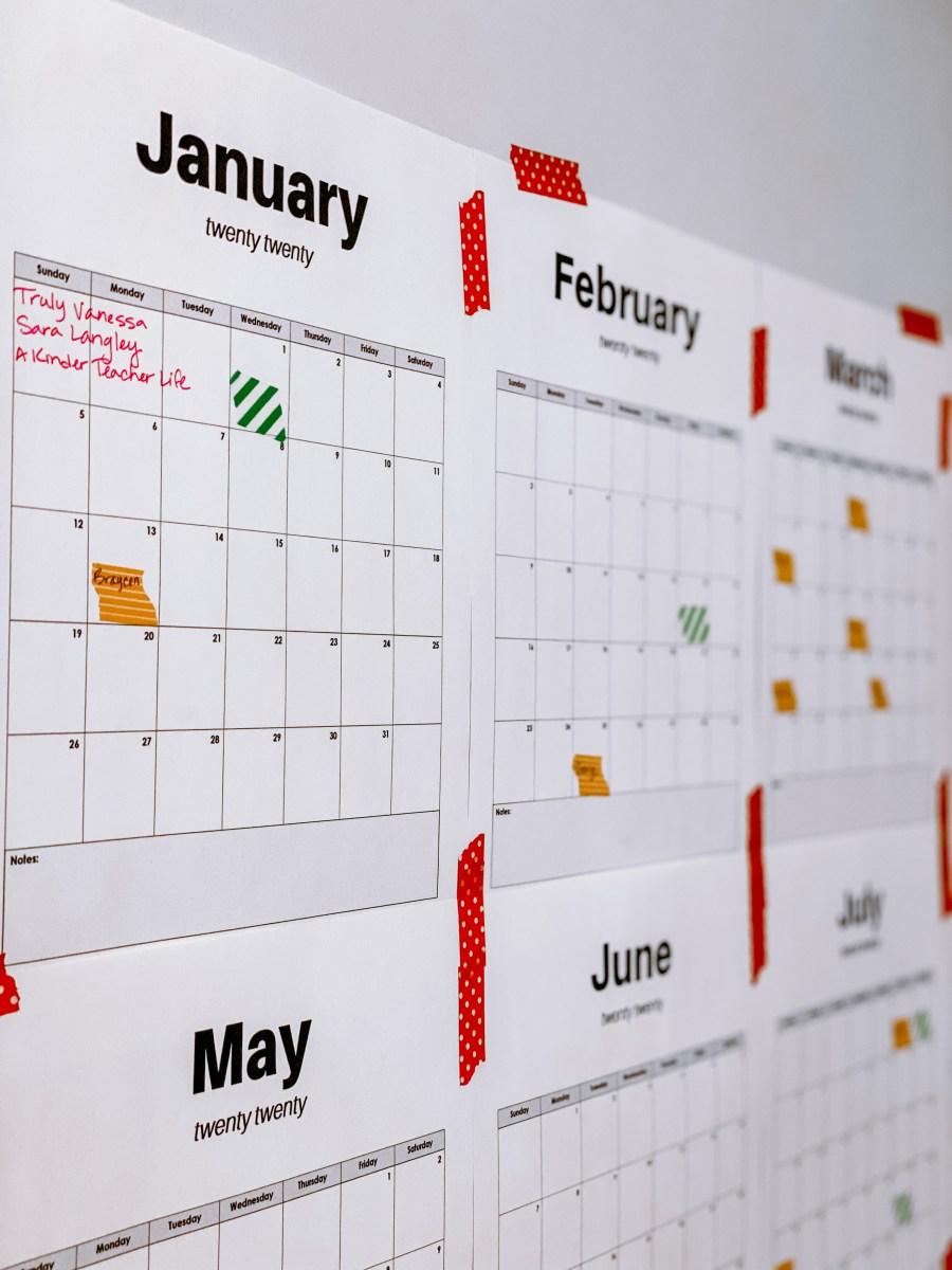 FREE 2020 Printable Calendar