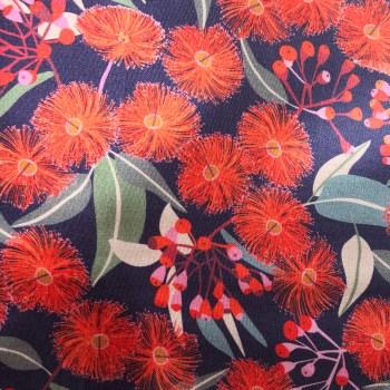 Orange gum blossom reusable beeswax food wrap