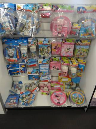 We stock a range of themed and licensed party ware