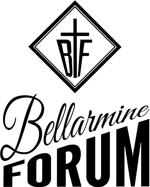 Bellarmine Forum Logo 2015 with Cross and diamond