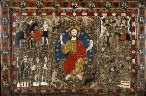 Spanish Alter Front St. MArtin, Our Lord wearing half cloak.