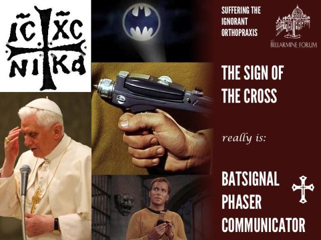 sign of cross batsignal communicator