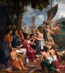 van der Elburcht's painting of Jesus telling the Apostles to let down their nets for a catch (the draught of fishes)