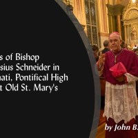 Bishop Schneider in Cincinnati (Pictures of Pontifical Mass at Old St. Mary's)