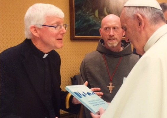 Pope Francis with James Fredericks, S.J.