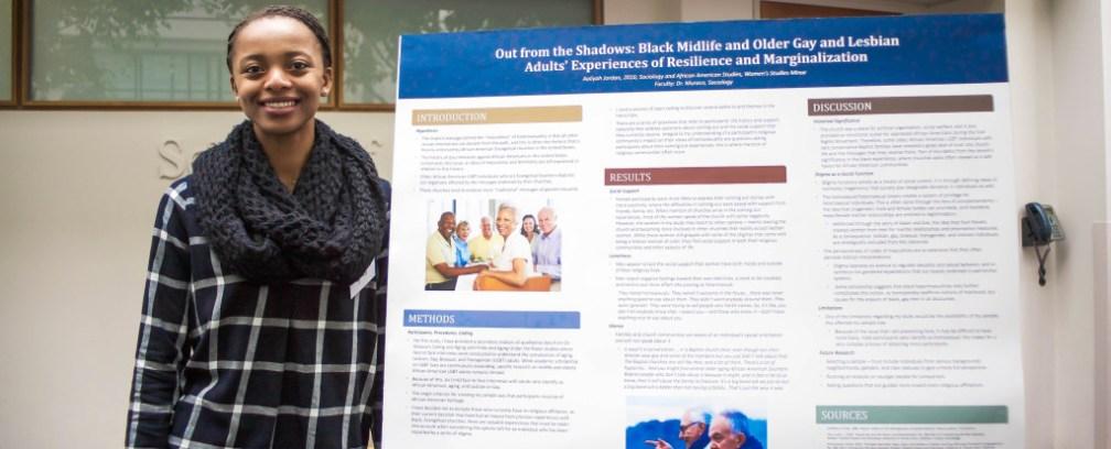 Aaliyah Jordan crop 1024x414 - Students Present at Undergraduate Research Symposium