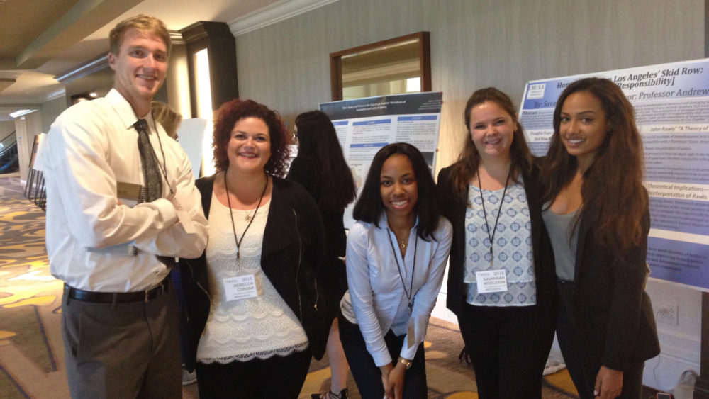 Political Science students present research at national symposium