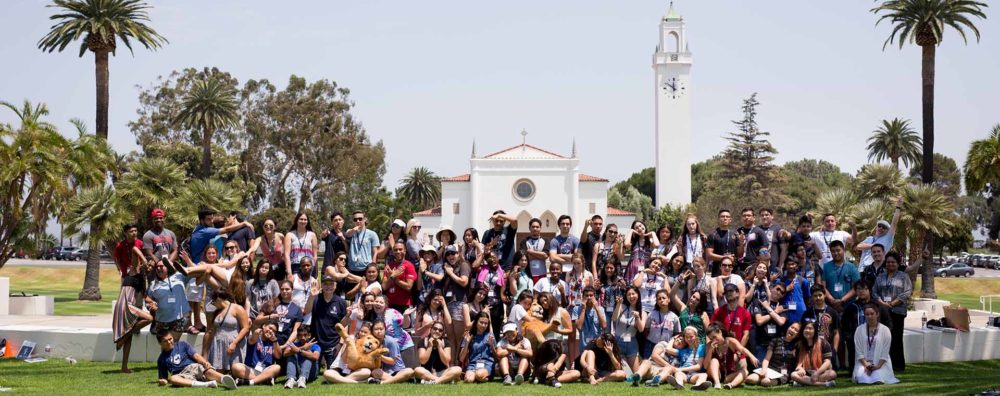 Group Shot of Kids in Youth Theology Institute in Sunken Gardens