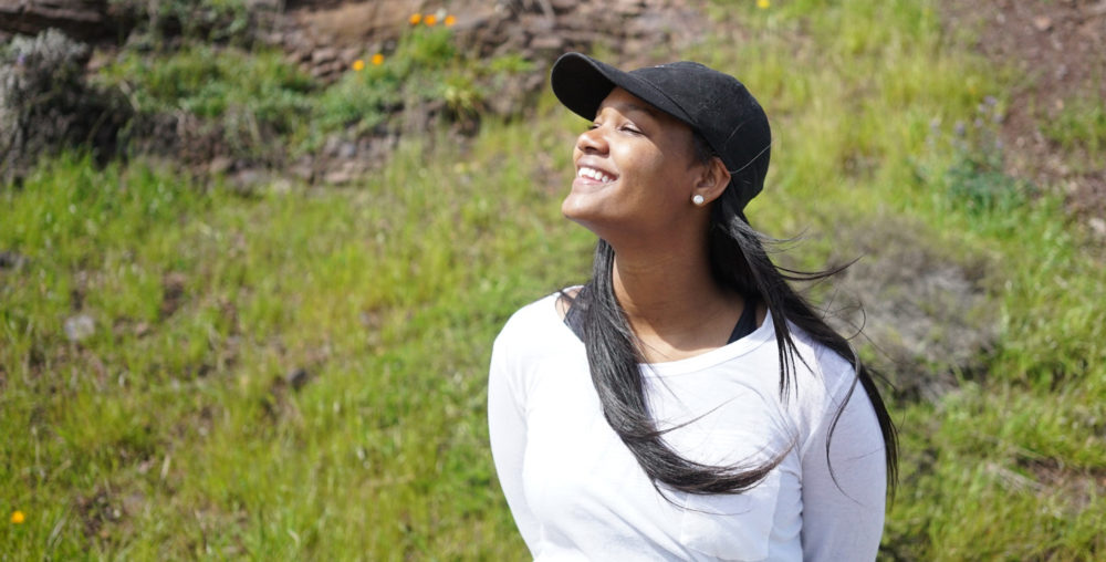Kendra Dawson outside smiling