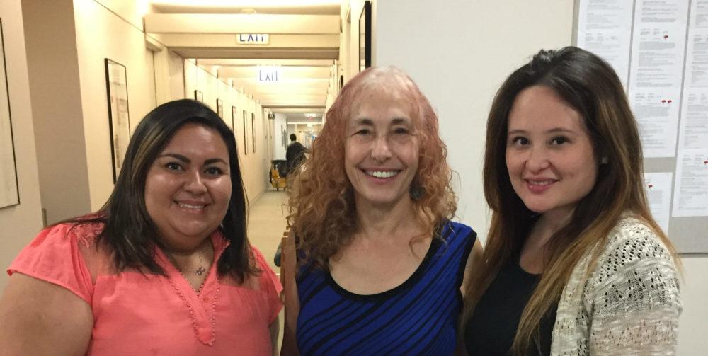 Karla Arvizu, Alicia Partnoy, and Victoria Lau